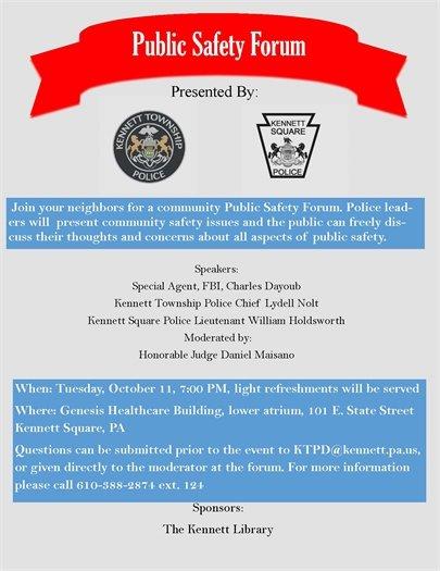 Public Safety Forum