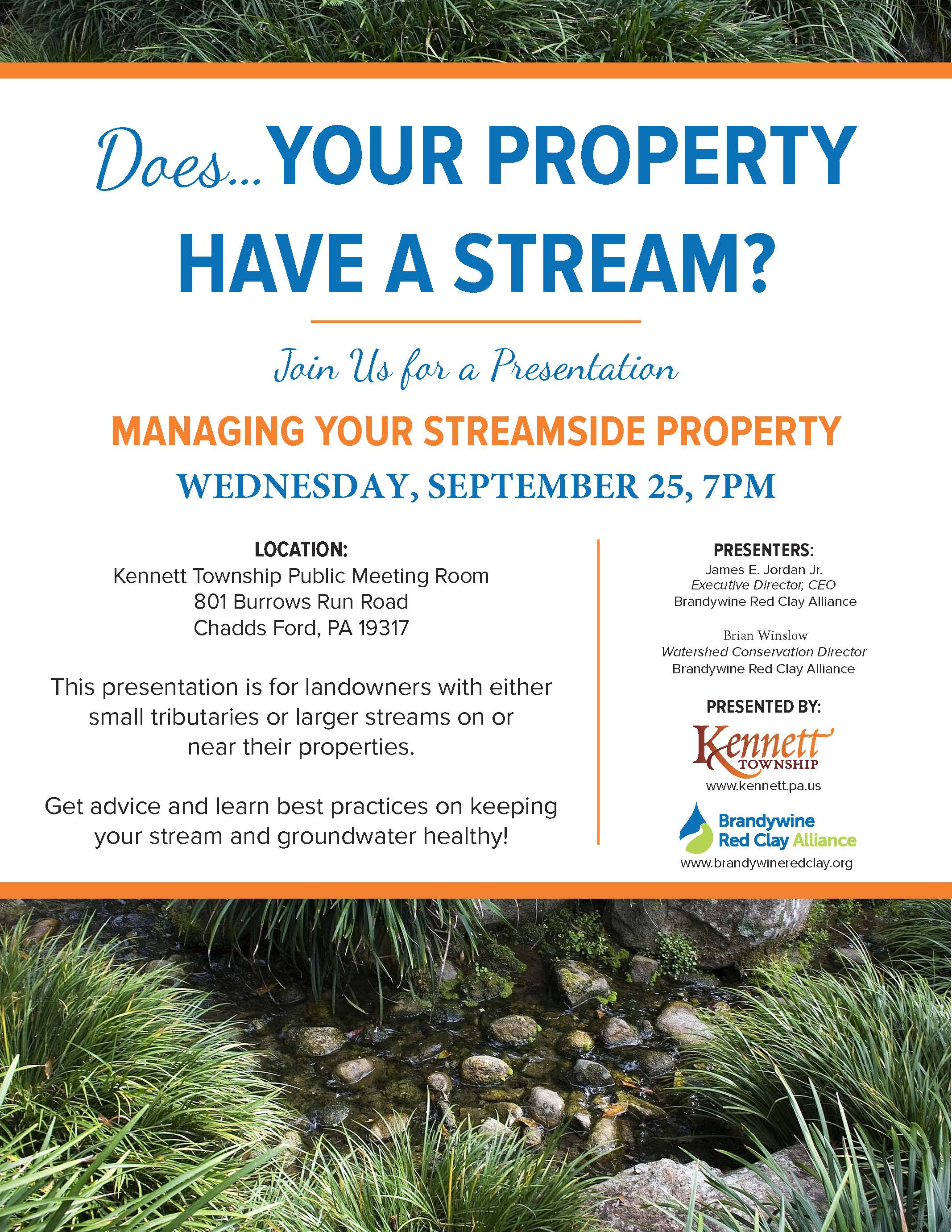 KENNETT TOWNSHIP MANAGING YOUR STREAM